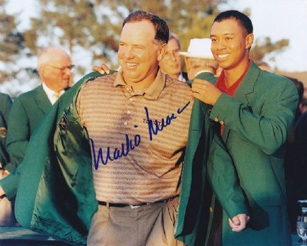 Mark O' Meara, Masters 1998 Augusta, signed 10x8 inch photo.